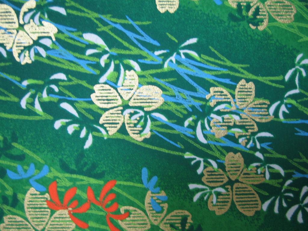 和紙(緑色)