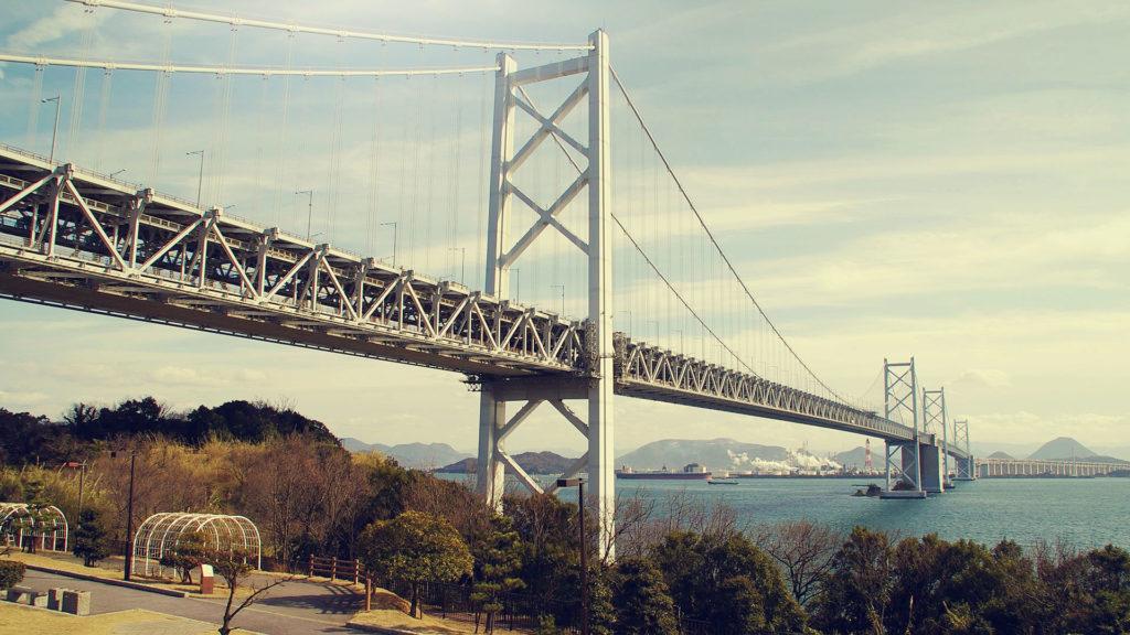 瀬戸大橋 下からの眺め