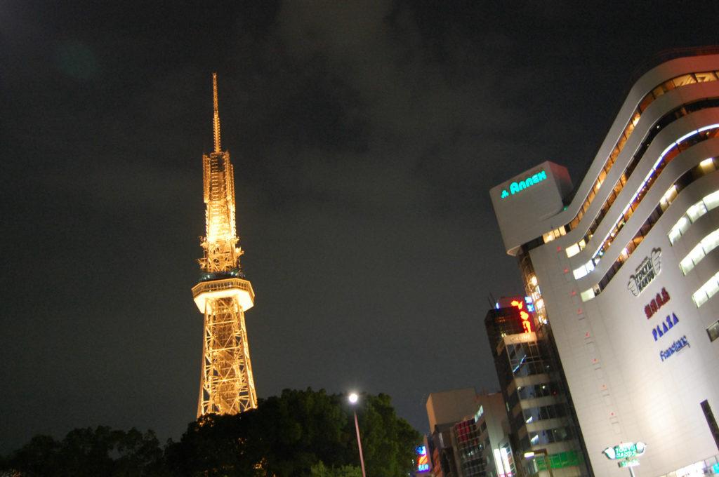 名古屋栄テレビ塔の夜景