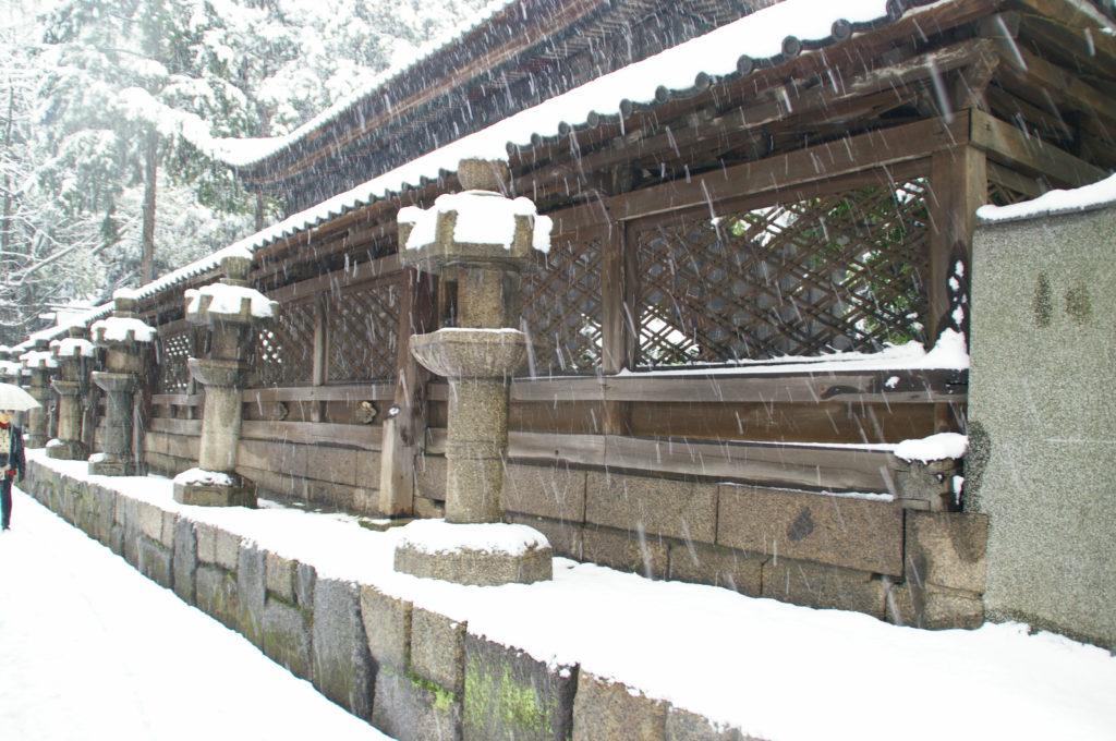 神社に積もる深い雪