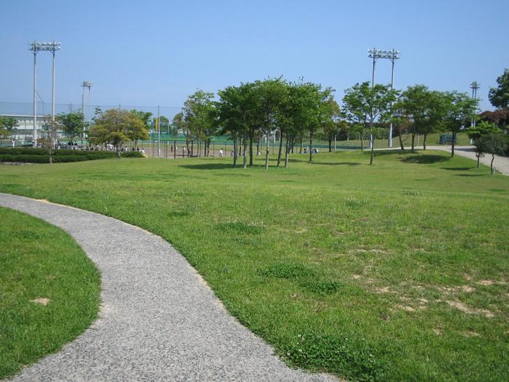 野球場近くの公園