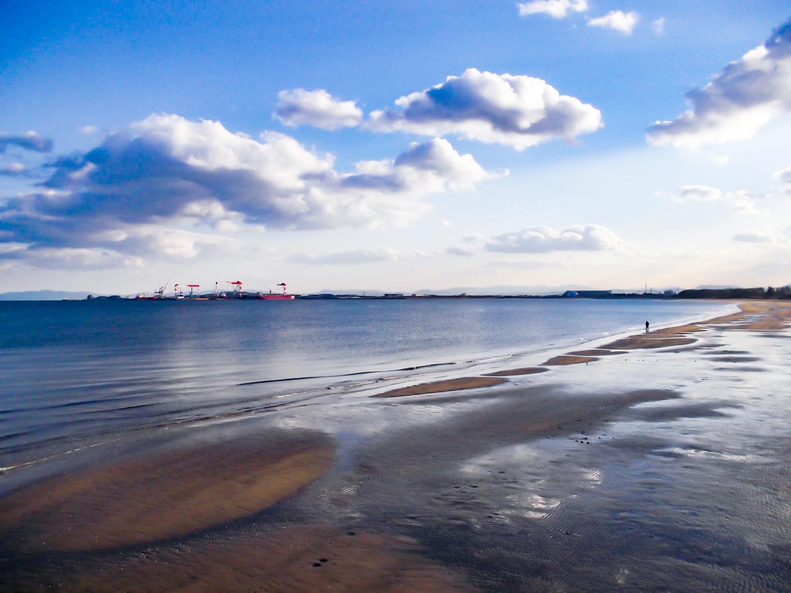 砂浜と浅瀬