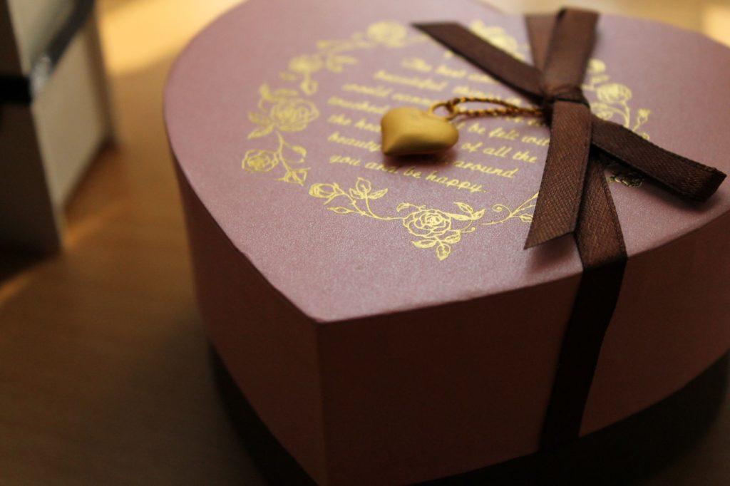 バレンタイン ハートの箱