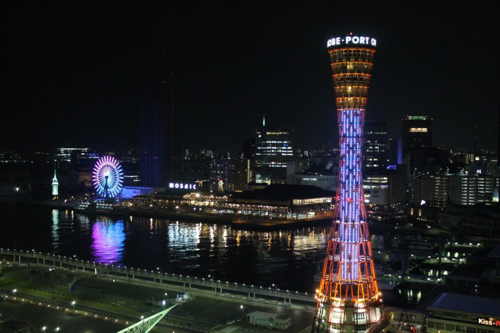 神戸ポートタワーの夜景2