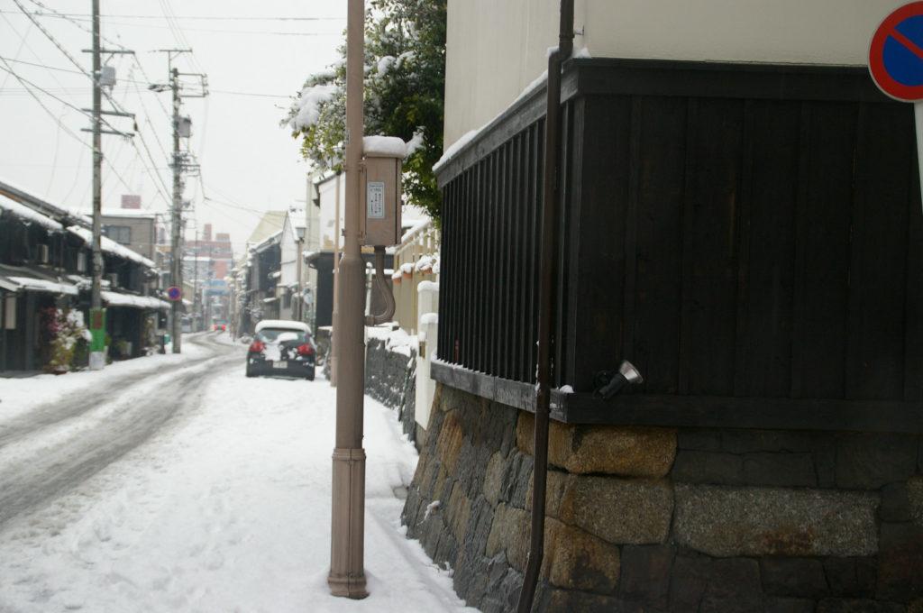 とある町の雪景色