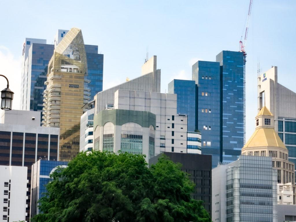 発展目覚しいシンガポールのオフィス街