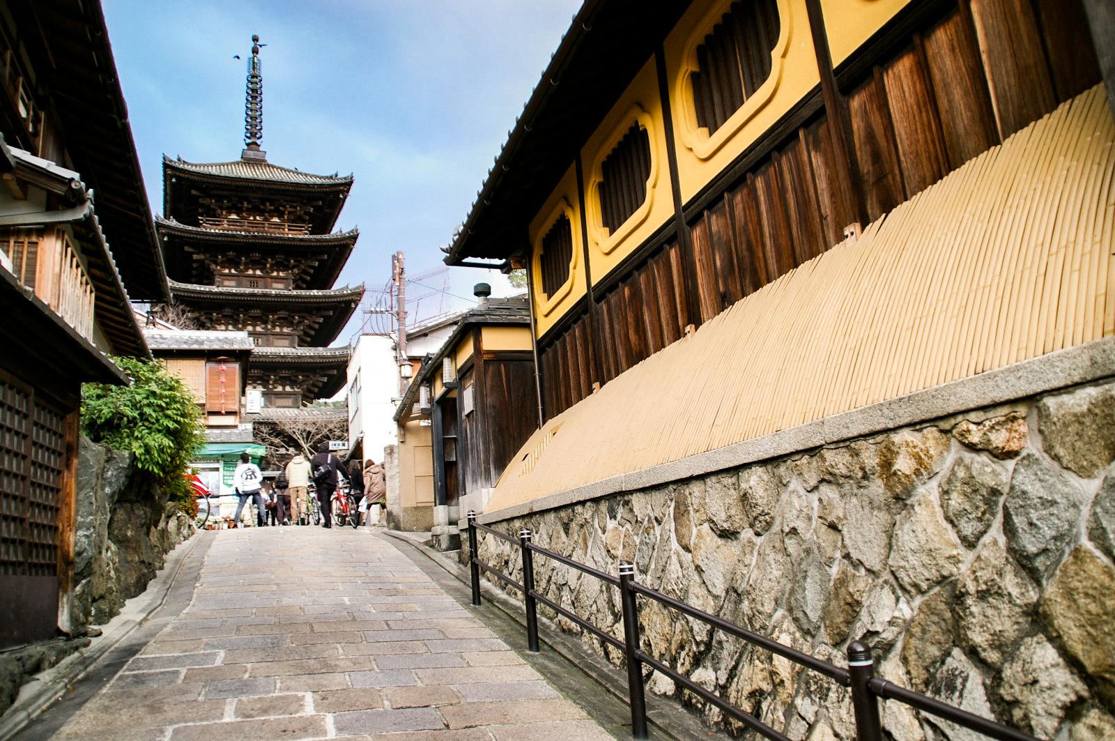 京都 石畳の路地