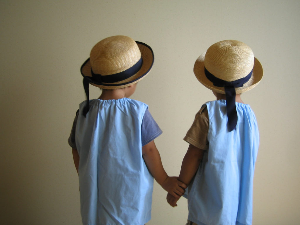 幼稚園に通う双子