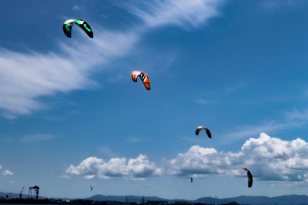 カイトサーフィン/カイトボードの写真