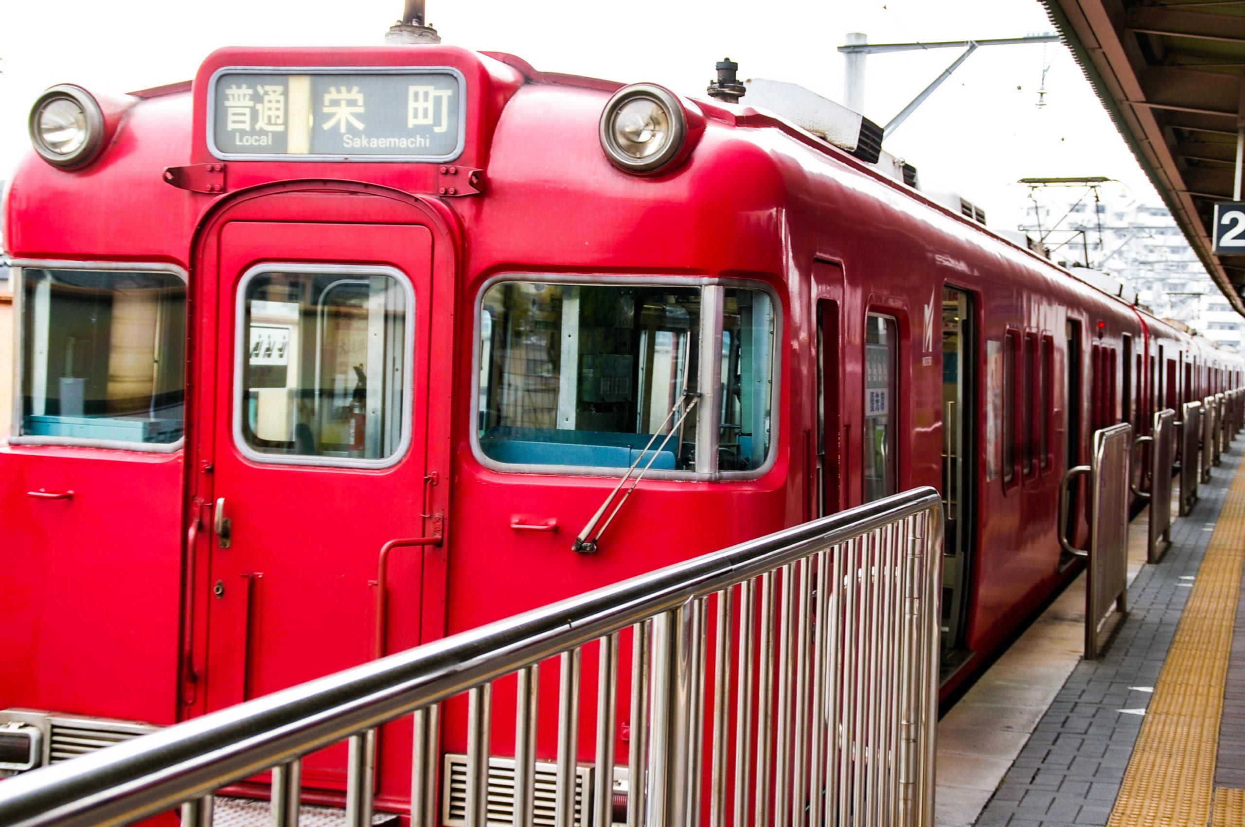 名鉄瀬戸線の電車の写真